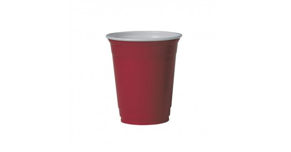 Pack of 50 Red 12 oz. Solo CP004 Party Plastic Cups